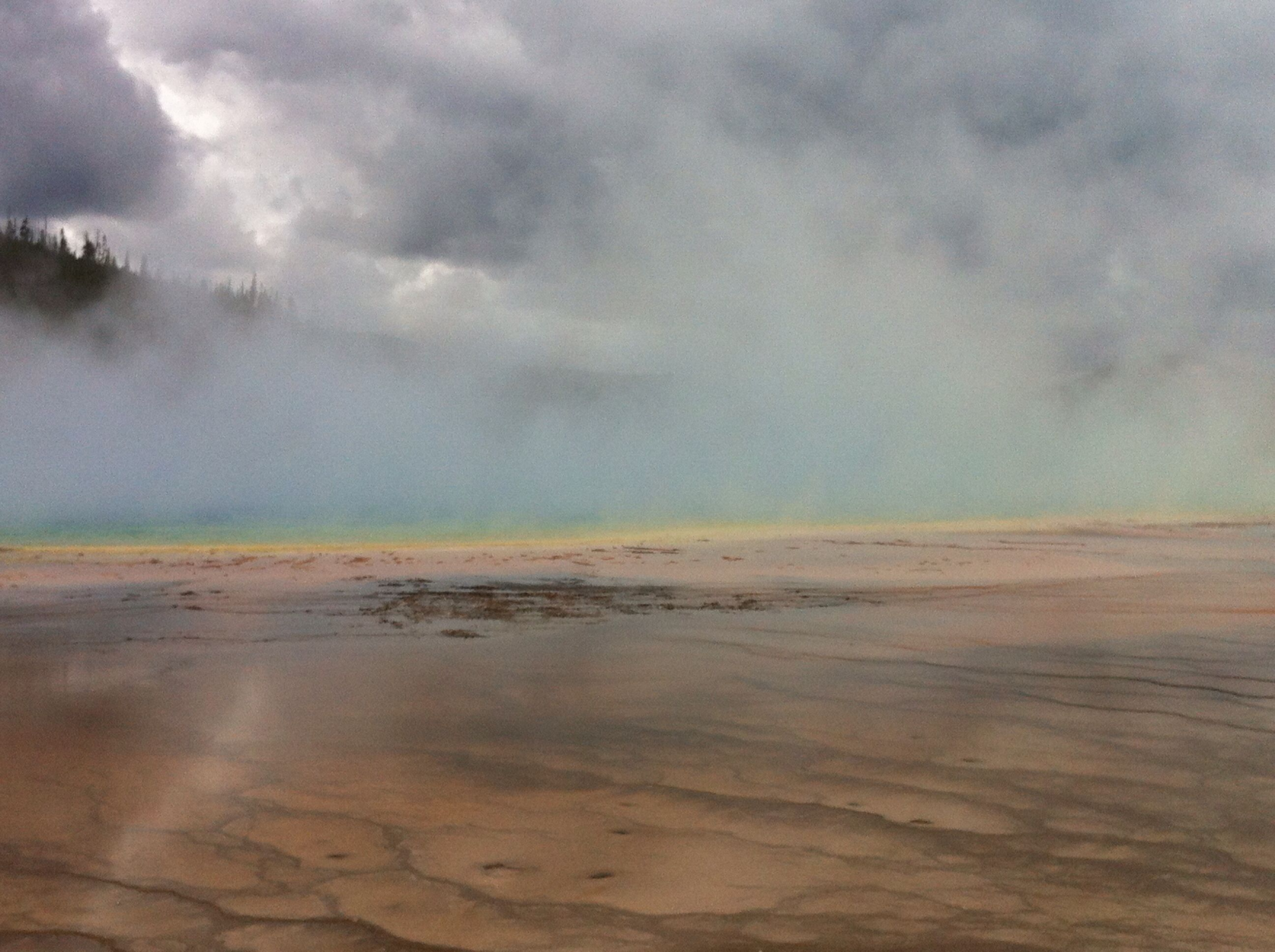 The beautiful Grand prismatic spring. Yellowstone park. Aug 2014