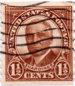 US Postage Stamp 1 2 Cents Harding Vertical Perforation Coil Issued 1930 Scott Catalog 686