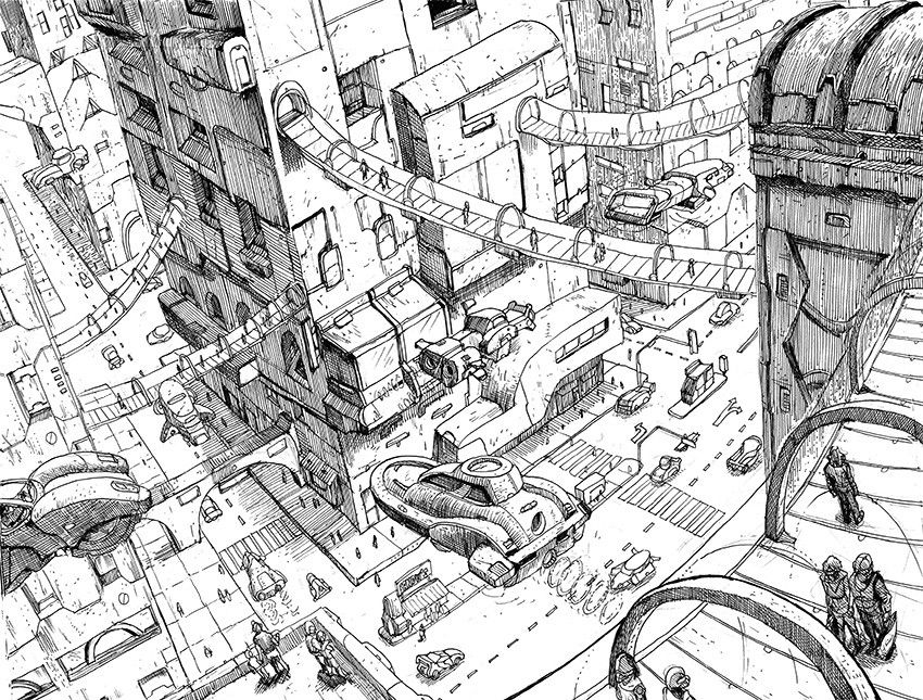 Futuristic City Seni