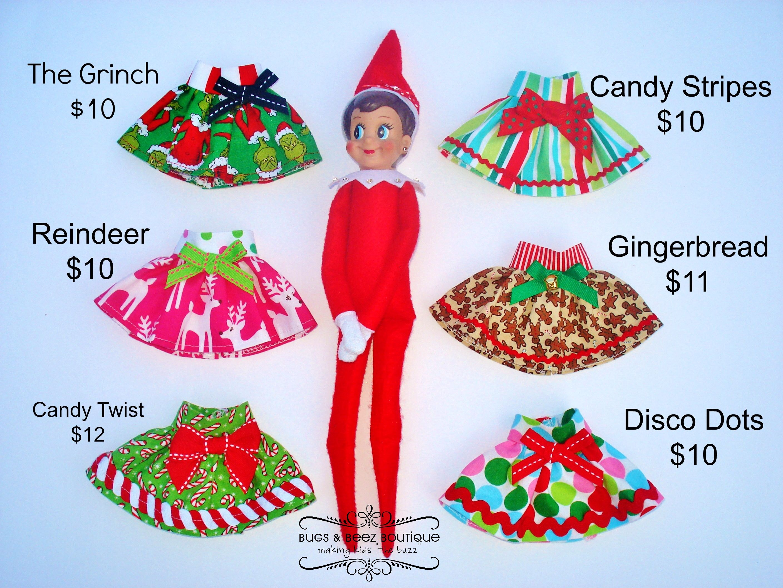 Elf on the Shelf Skirts bugsandbeezboutique