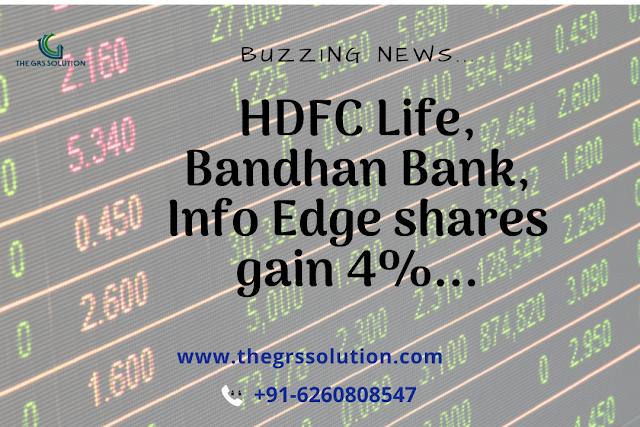 Shares Of Hdfc Life Insurance Company Bandhan Bank And Info Edge