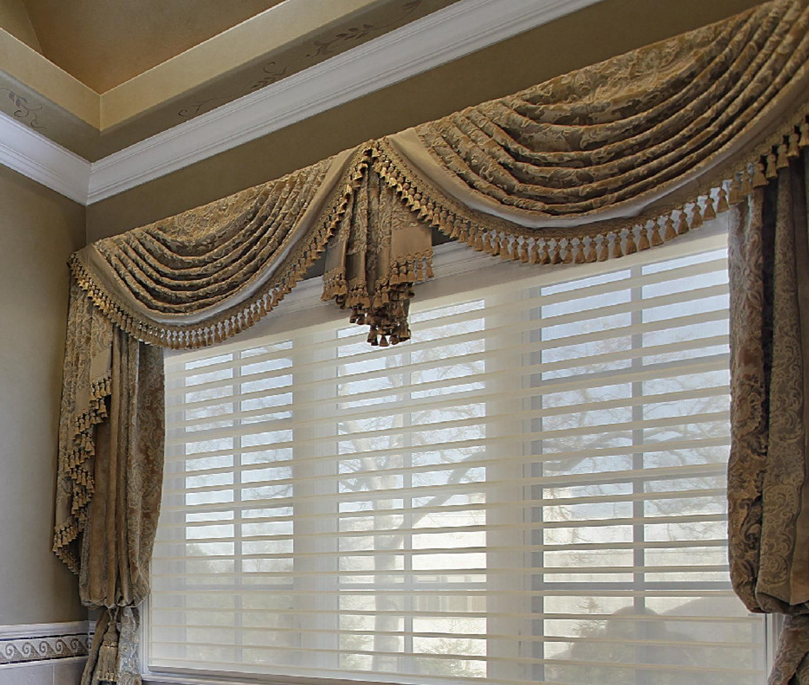 Custom Made Traditional Swag Valance Made To Measure Your Choice Of Fabrics In 2020 Living Room Decor Curtains Window Treatments Living Room Luxury Window Treatments #traditional #curtains #for #living #room