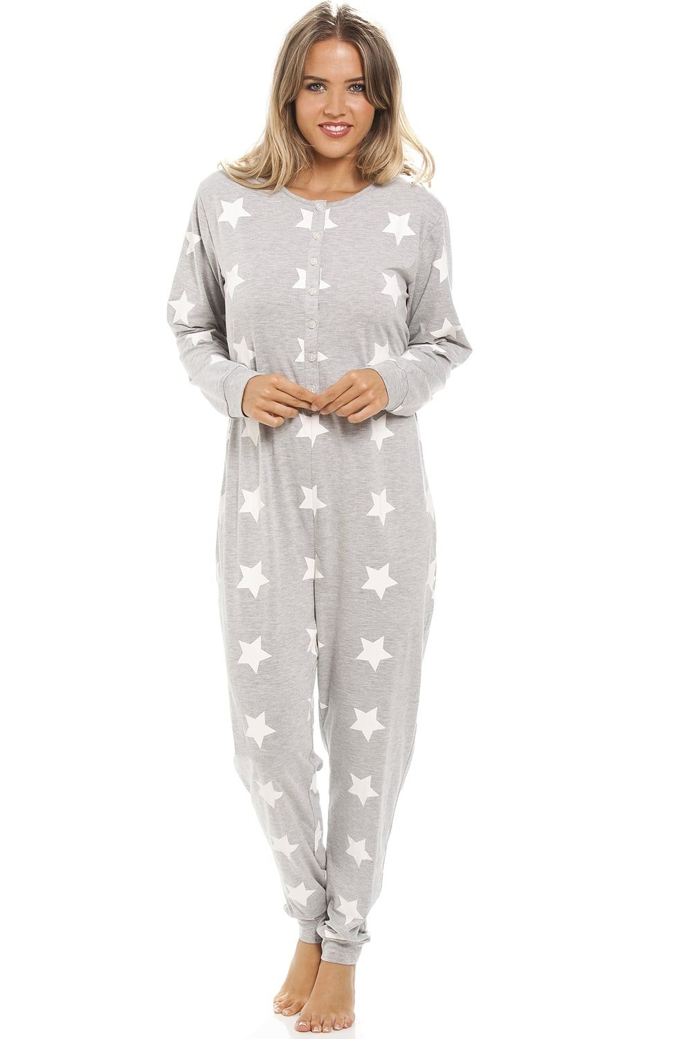 f06dcf72648 Grey Full Cotton White Star Print All In One
