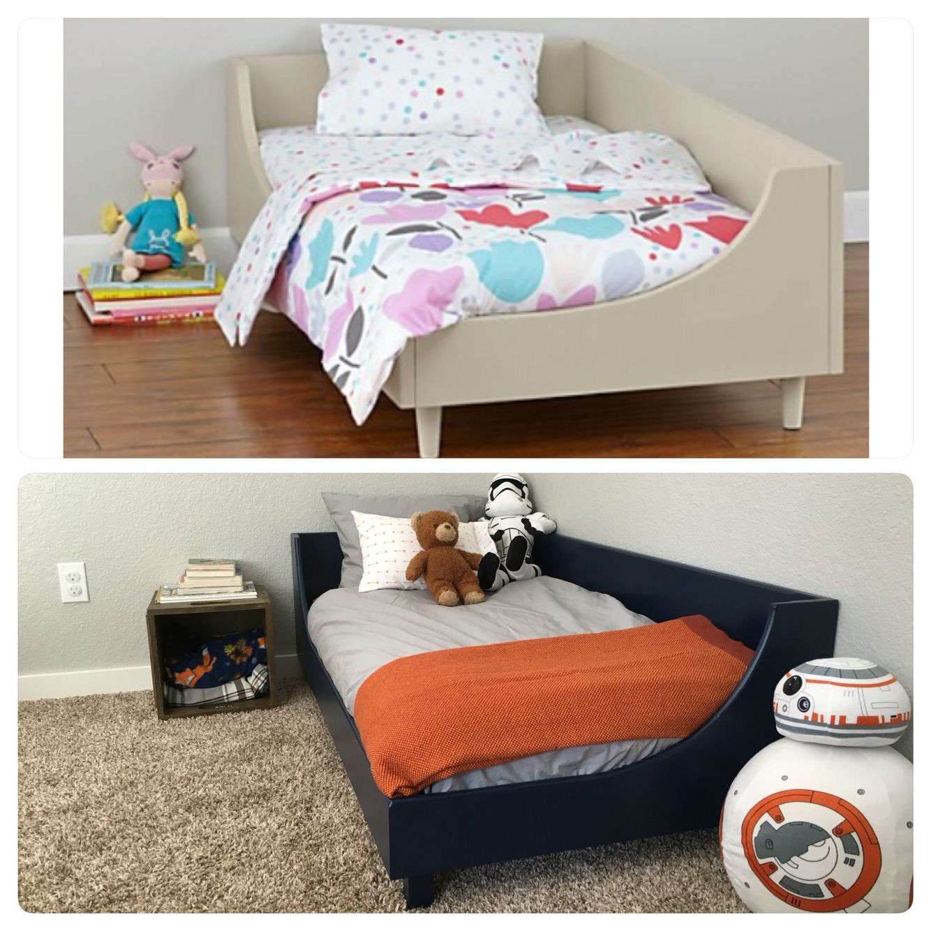 Diy Toddler Bed Land Of Nod Toddler Bed Inspiration Sherwin Williams In The Navy Paint Toddler B Toddler Boys Room Diy Toddler Bed Pottery Barn Kids Duvet