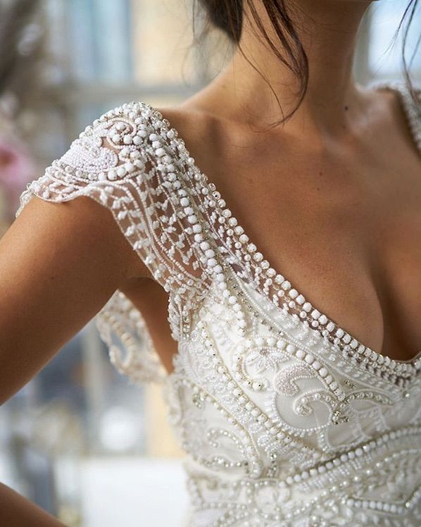 "Anna Campbell Bridal on Instagram: ""Details of Sorrento, she is feminine and f... - Melanie Davis #attireforwedding"