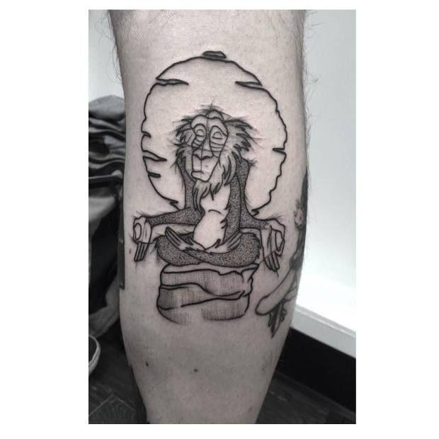 'The Lion King', Rafiki tattoo. Minimalist Disney-inspired ...