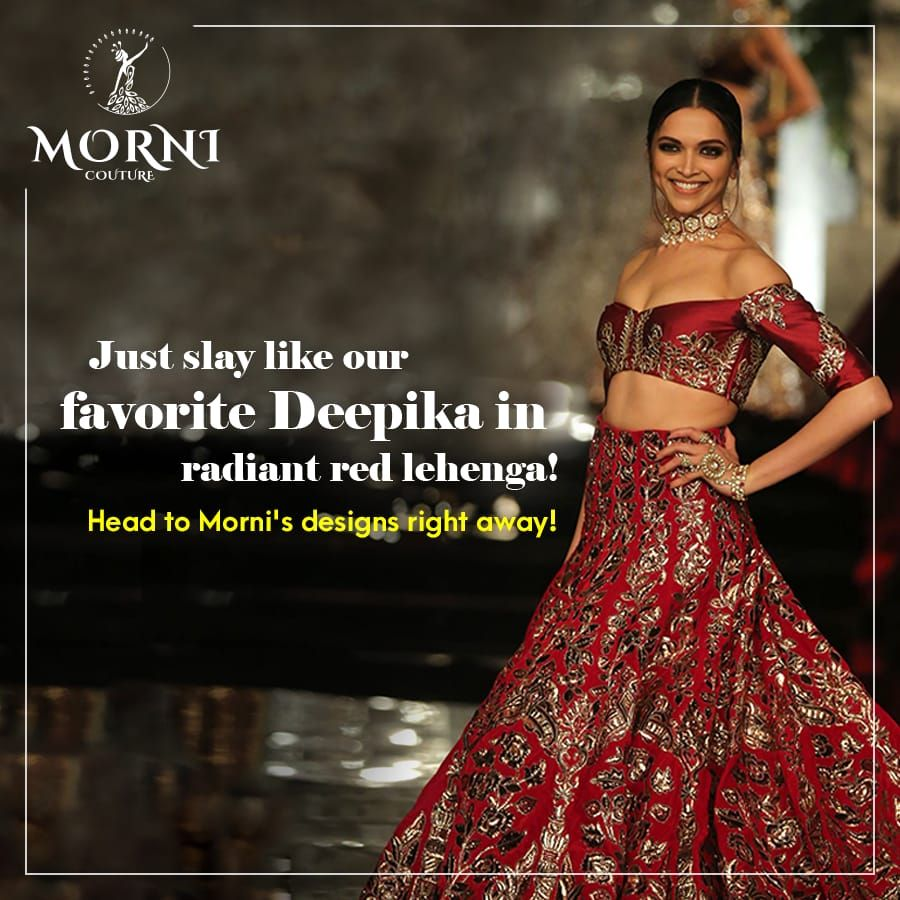 The Wait Is Finally Over Ranveer Singh And Deepika Padukone Officially Announce Their Wedding Dates Morn Strapless Dress Formal Bridal Lehenga Red Lehenga