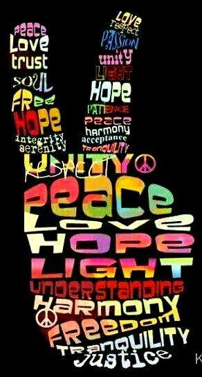 Peace Sign with words Peace Love Faith Joy Hope Kindness Unity iPhone 11 case