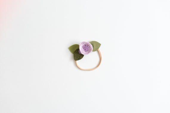 POLICHINELLE PURPLE // single flower band or alligator clip // felt flower headband #feltflowerheadbands