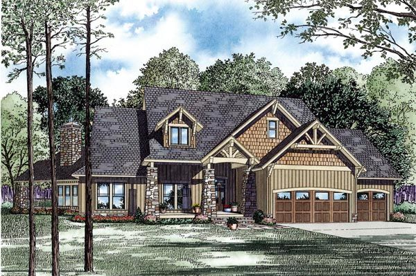 craftsman house plan chp-48847 at coolhouseplans | my dream