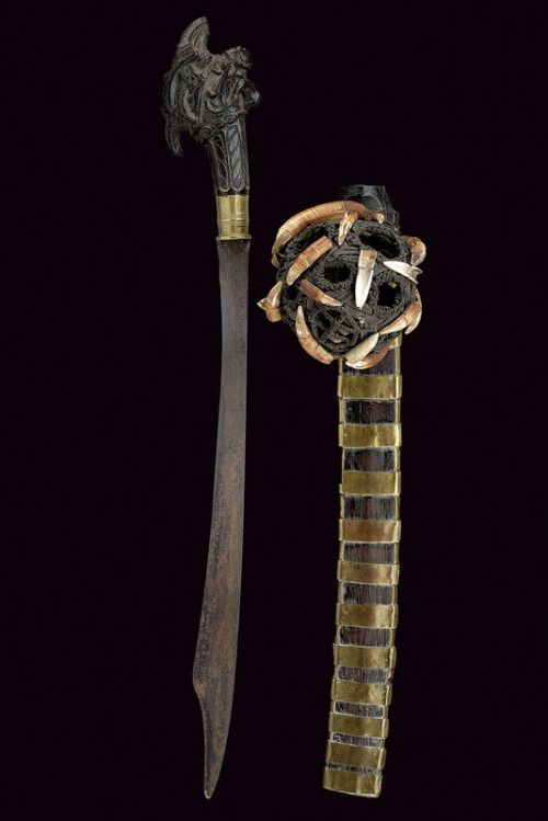 Historical Artefact, Sword from Nias Island (Indonesia), 19th century. ...
