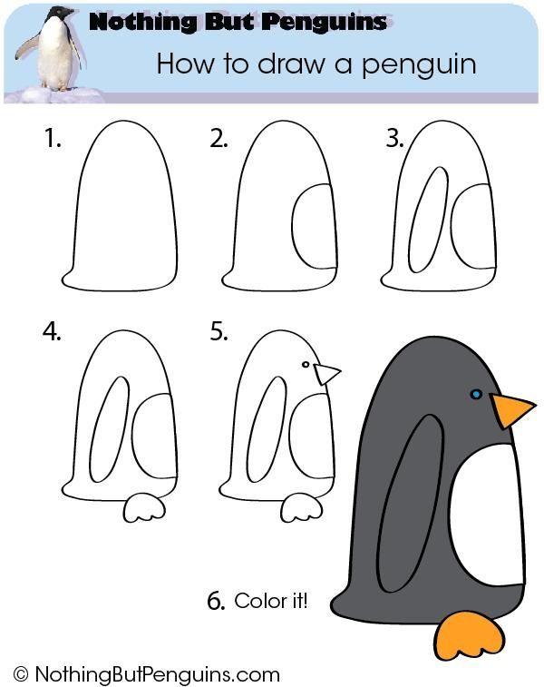 Extrem Dessiner des pingouins | Teaching | Pinterest | Dessiner  PP37
