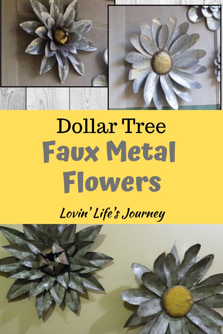 Faux Metal Flowers - Dollar Tree diy