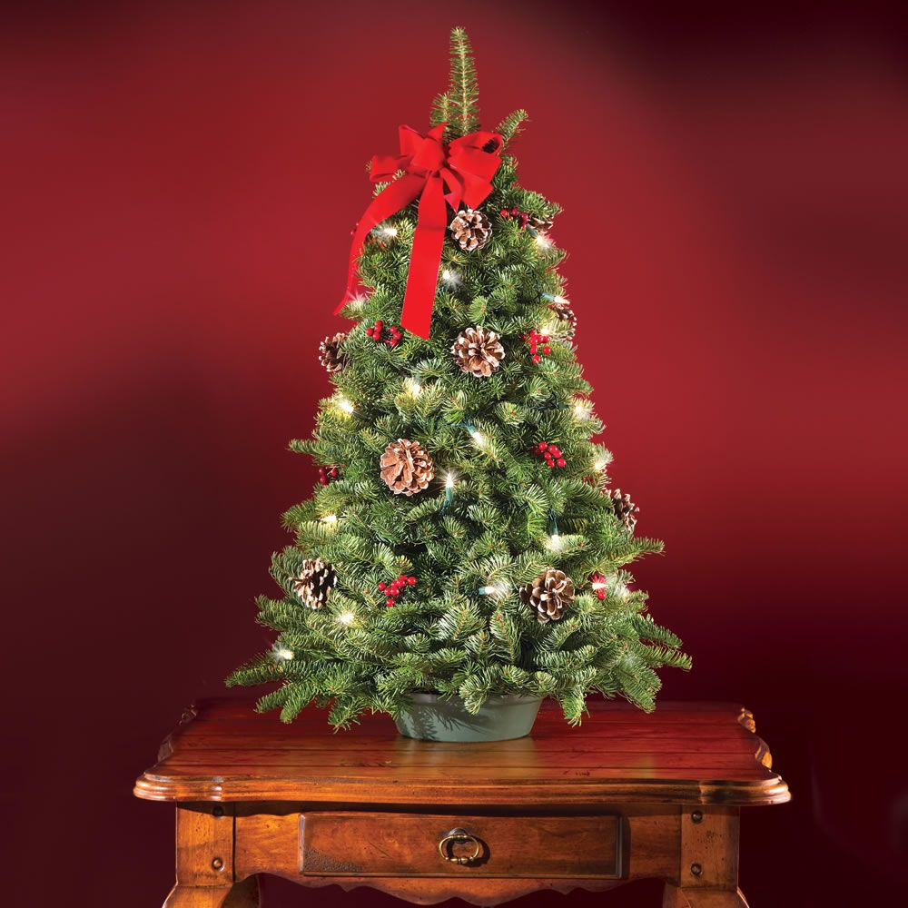 images of pre lit decorated tabletop christmas trees home design - Pre Lit Decorated Christmas Trees