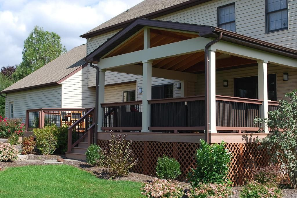 Best 25 deck covered ideas on pinterest covered decks for Covered back porch designs
