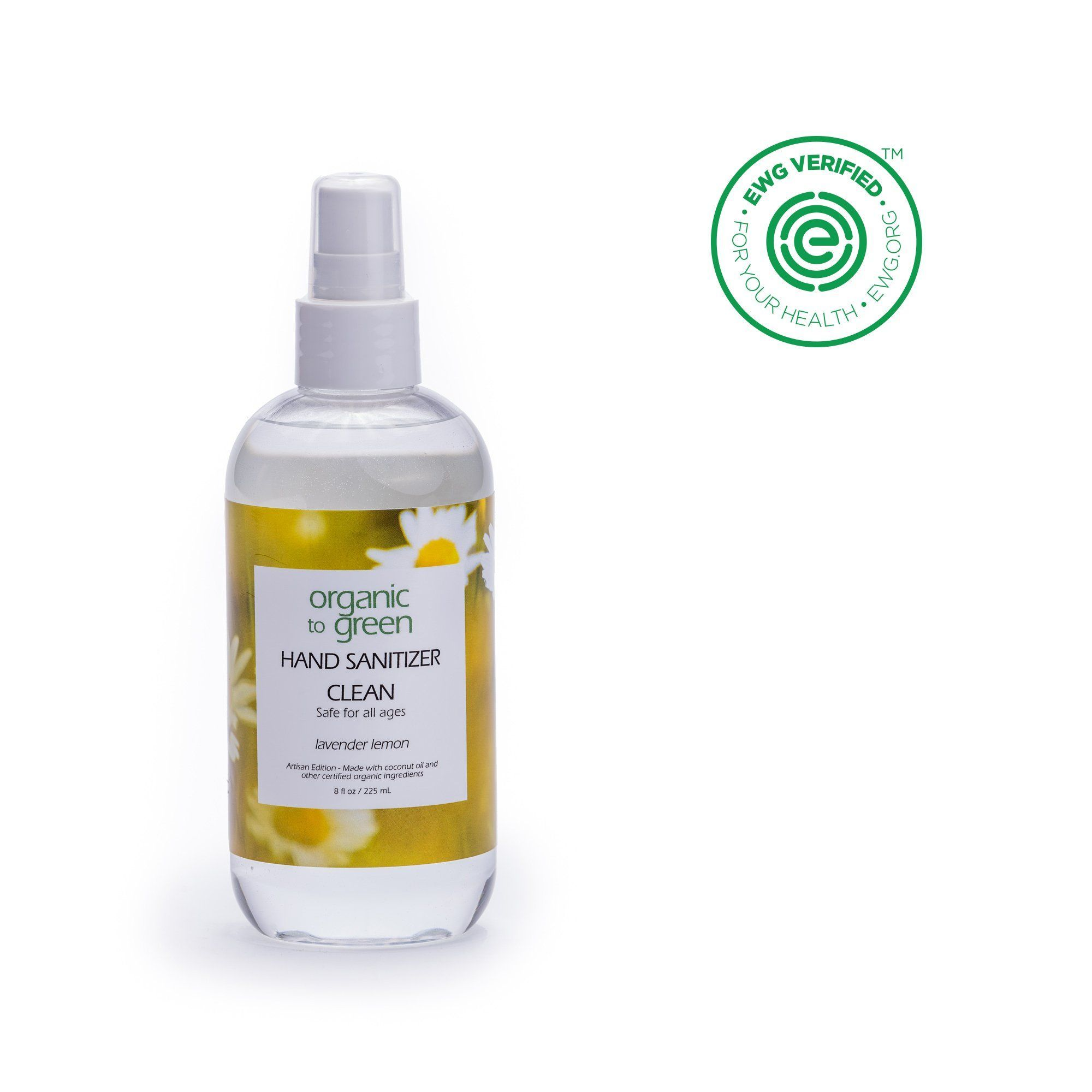 Clean Organic Hand Sanitizer Spray Lavender Lemon Hand