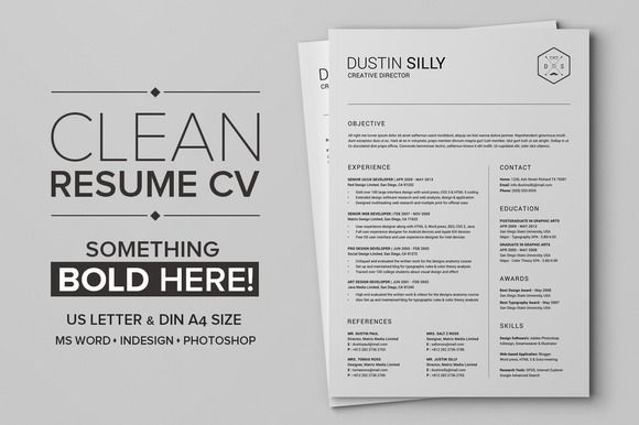 Clean Resume CV - Silly Resume cv, Template and Business resume