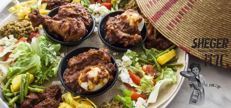 Assortiment De Plats éthiopiens à Déguster Ensemble Cuisine - Cuisine ethiopienne
