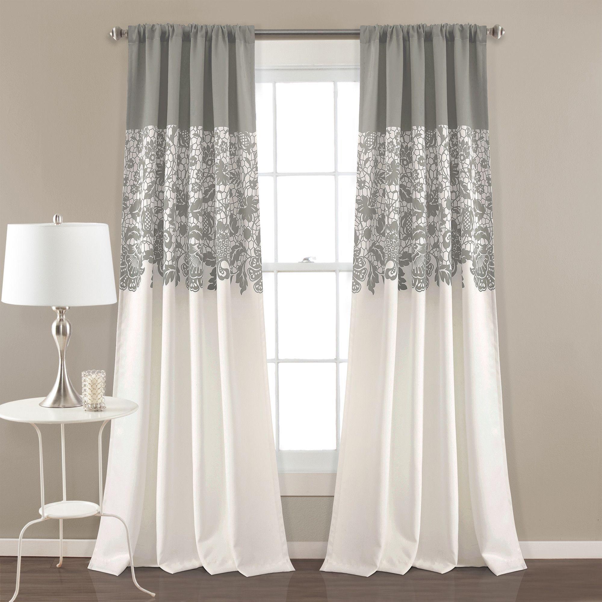 Estate Garden Print Room Darkening Window Curtain Set Horden
