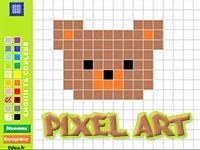 Jeux Recreatifs Tidou Fr Coloriage Pixel Coloriage En Ligne Coloriage