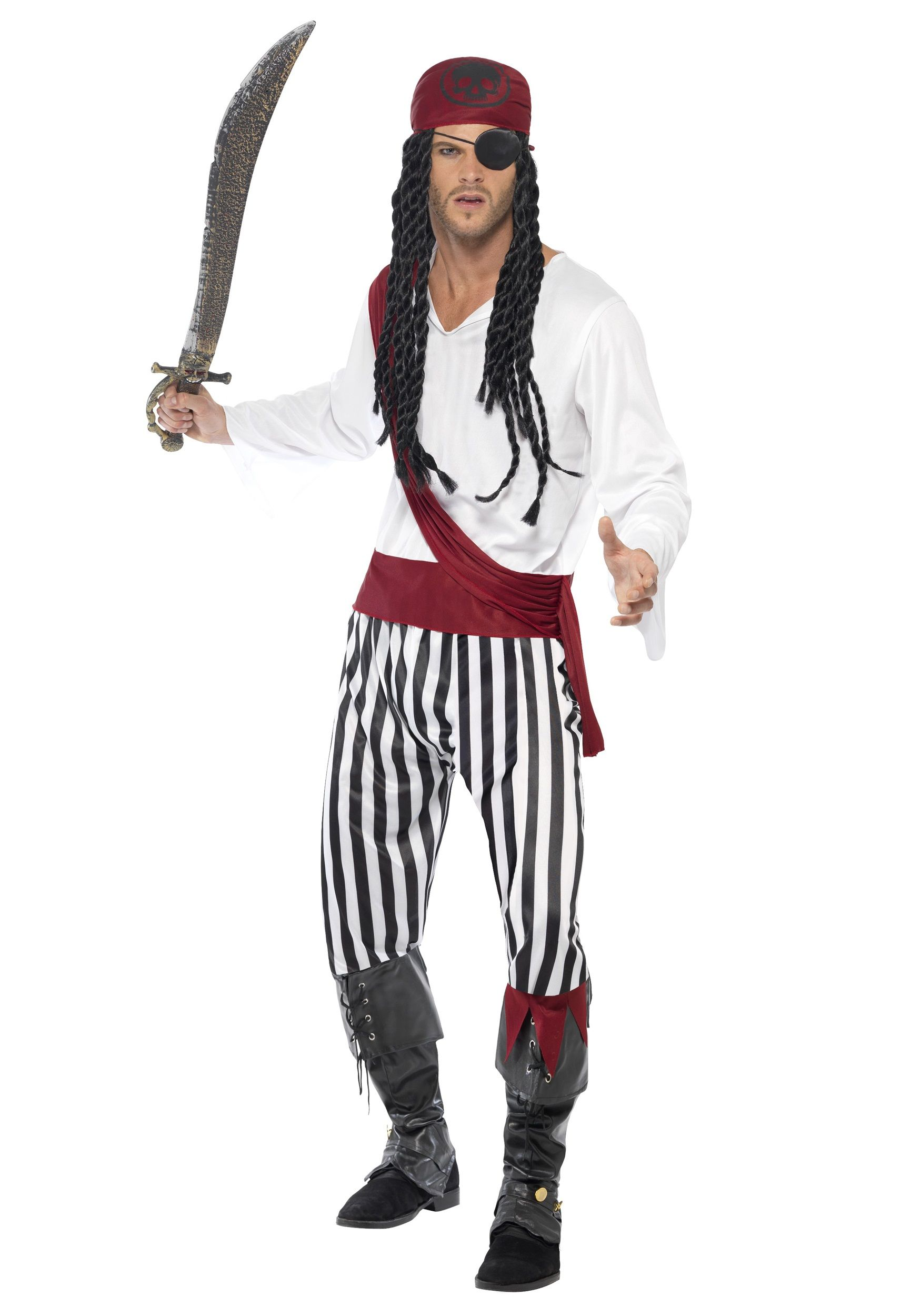FUNNY CAPTAIN JOHN LONGFELLOW STAG PARTY One Size mens fancy dress costume