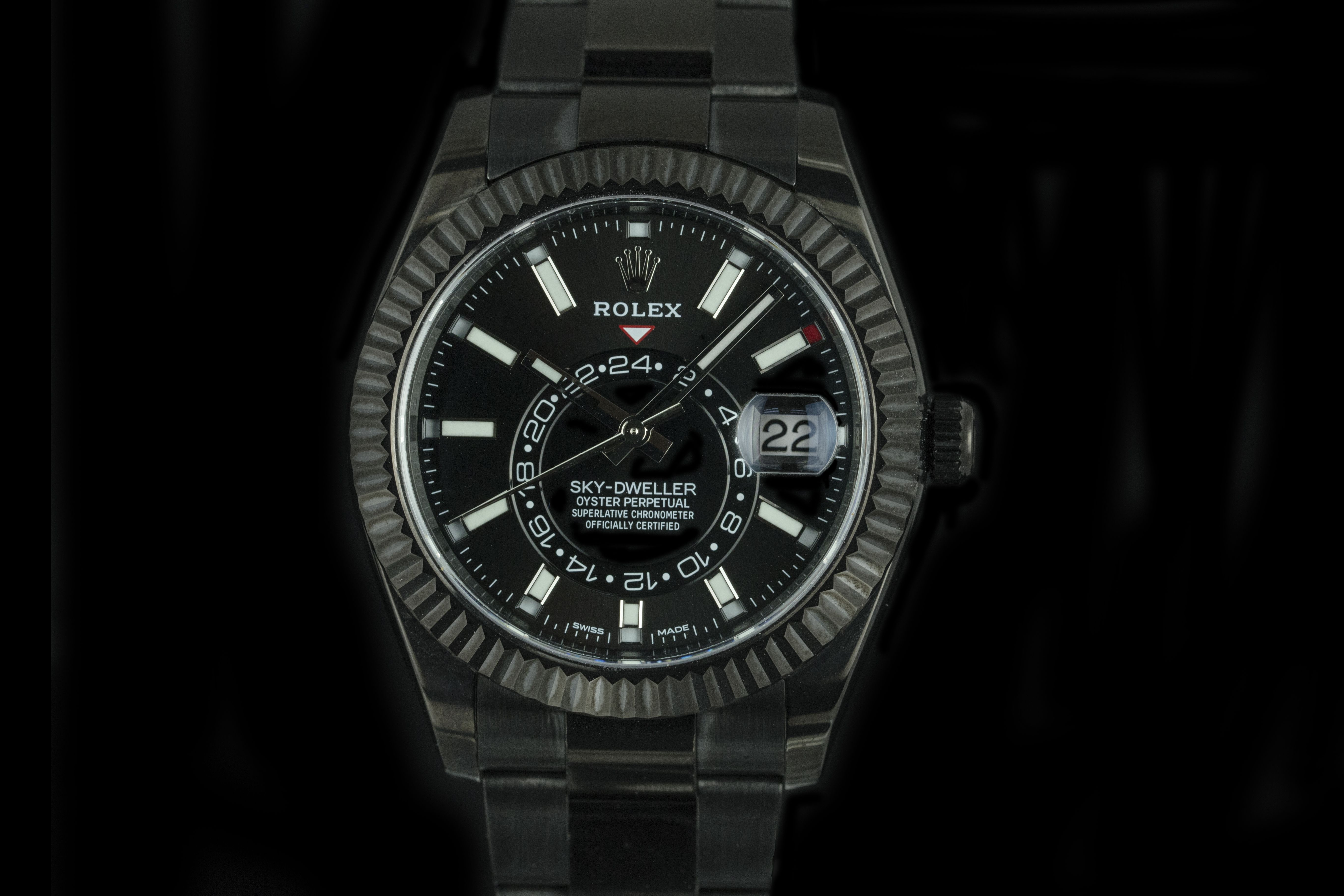 Rolex Sky Dweller Black On Black Pvd With Images Rolex Watches Women Rolex Used Rolex Submariner