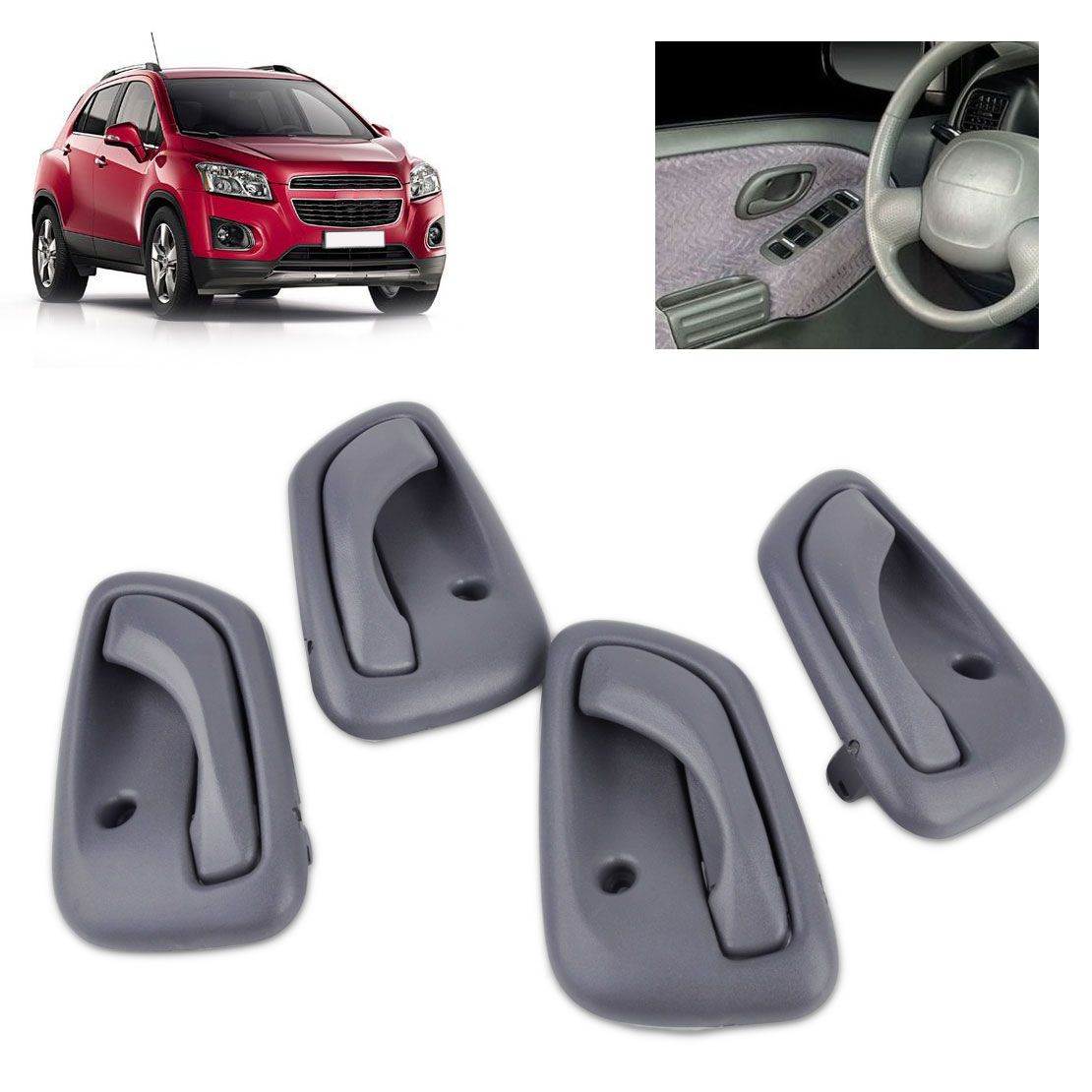 4x Grey Interior Inside Door Handle 30024125 30024123 For