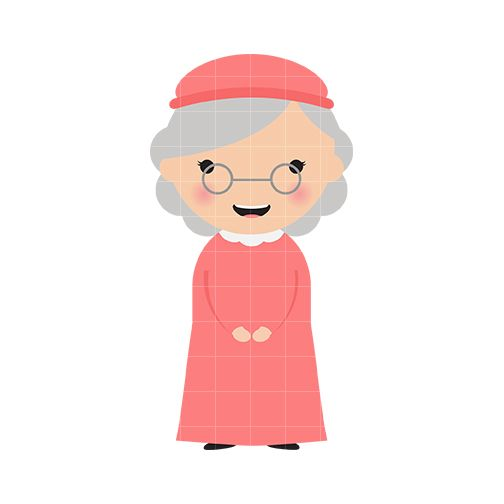 grandma face clipart - Google Search   Caras titeres ...