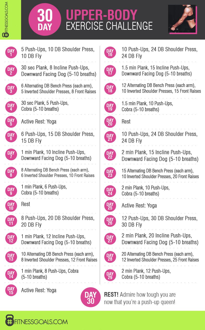 30 Day Upper Body Challenge