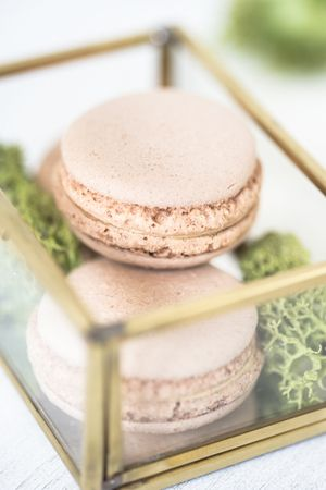 Chocolate macarons photo by ckahr.com #foodphotography