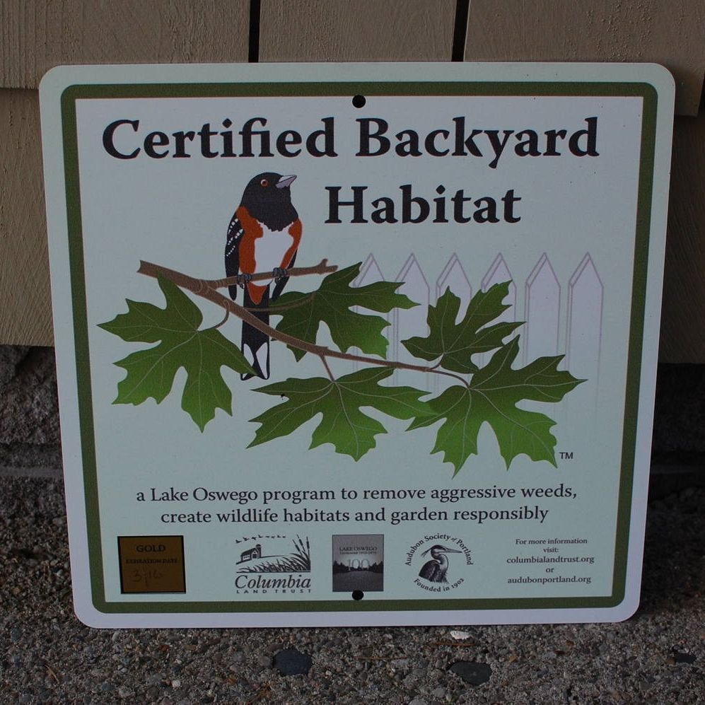 Backyard Habitat Certification Program Now In Gresham And Fairview