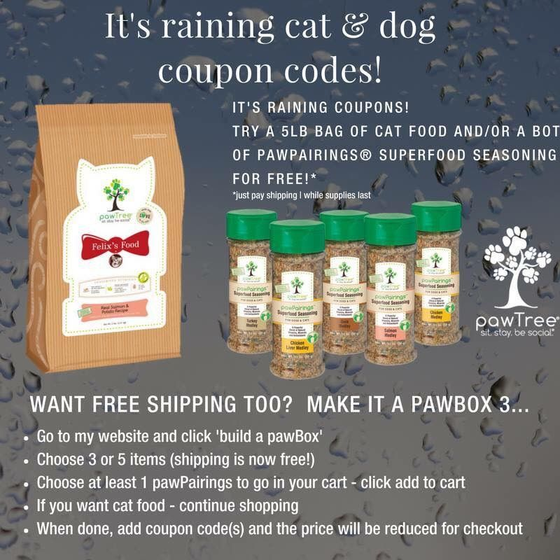 Who out there wants to try the cat food or the pawPairings
