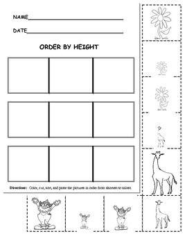 order by height kindergarten measurement measurement kindergarten math measurement. Black Bedroom Furniture Sets. Home Design Ideas