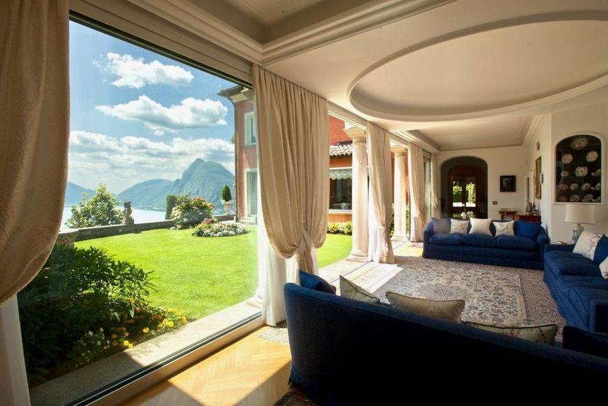 Роскошный дом с видом на озеро Лугано в Швейцарии