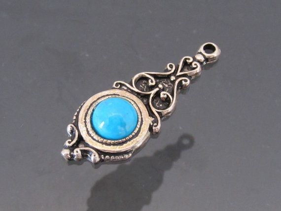 Hey, I found this really awesome Etsy listing at https://www.etsy.com/listing/201293284/vintage-sterling-silver-turquoise-charm