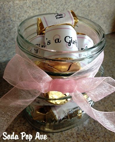 It's a Girl Candy Wrappers - free printable.  Great for a baby shower.  www.SodaPopAve.com