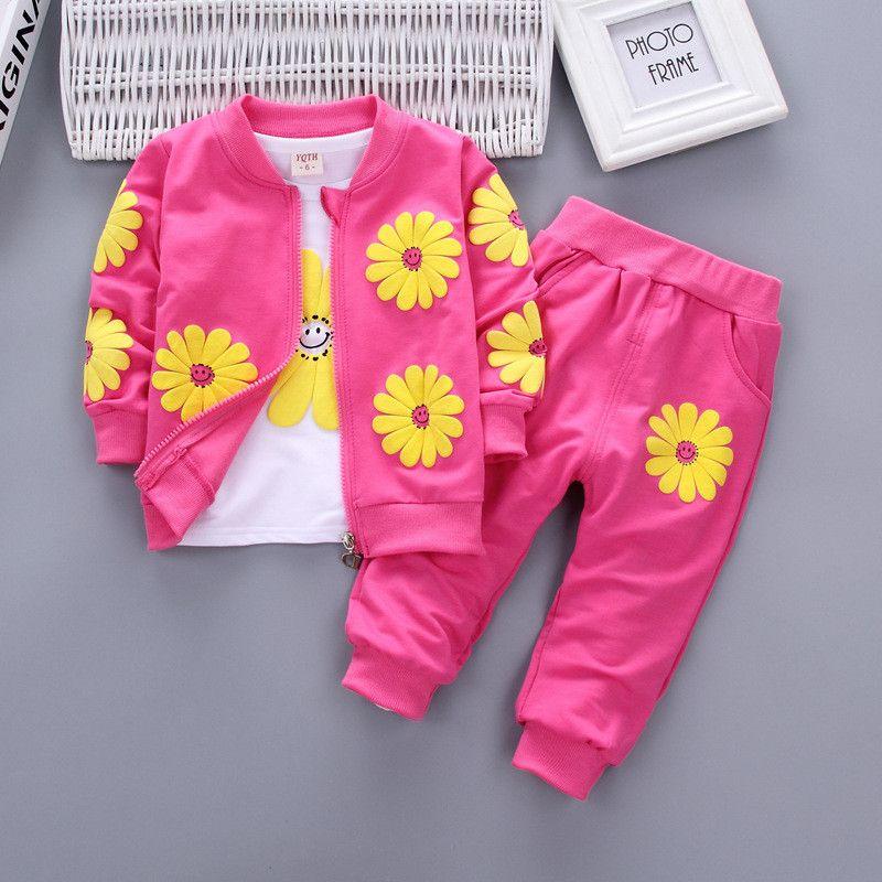Floral Long Pants Outfits Set Tracksuit 2PCS Toddler Girls Love Strap Vest