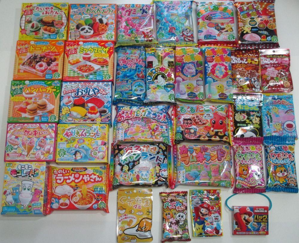 32pcs popin cookin happy kitchen japanese diy candy kits