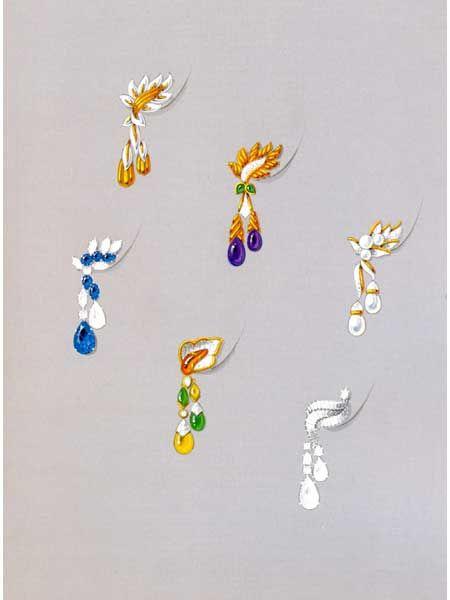 THE ART OF JEWELRY DESIGN Jewellery Rendering Pinterest