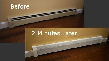 How To Replace A Baseboard Heating Cover Video Heating