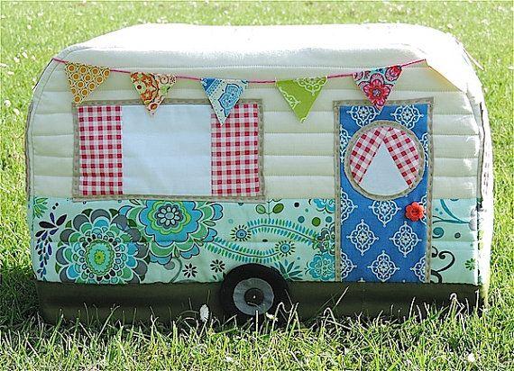 Vintage Caravan Sewing Machine Cover Pattern | Nähen! | Pinterest ...