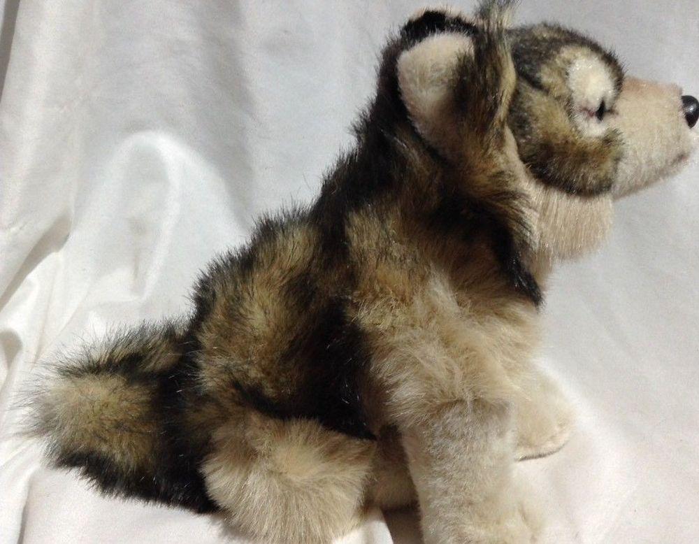 Jaag Timber Wolf bean Plush Realistic Dog Stuffed Animal 8