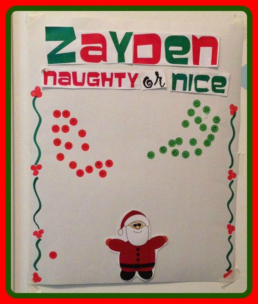 Christmas Naughty Or Nice Chart.Naughty Or Nice Christmas Behavior Chart Santa Behavioral