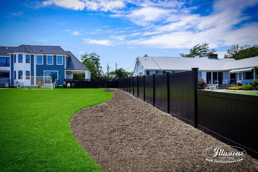 Black PVC Vinyl Privacy Fencing Panels From Illusions Fence Are The Perfect Backyard Idea For Your Outdoor Living Space