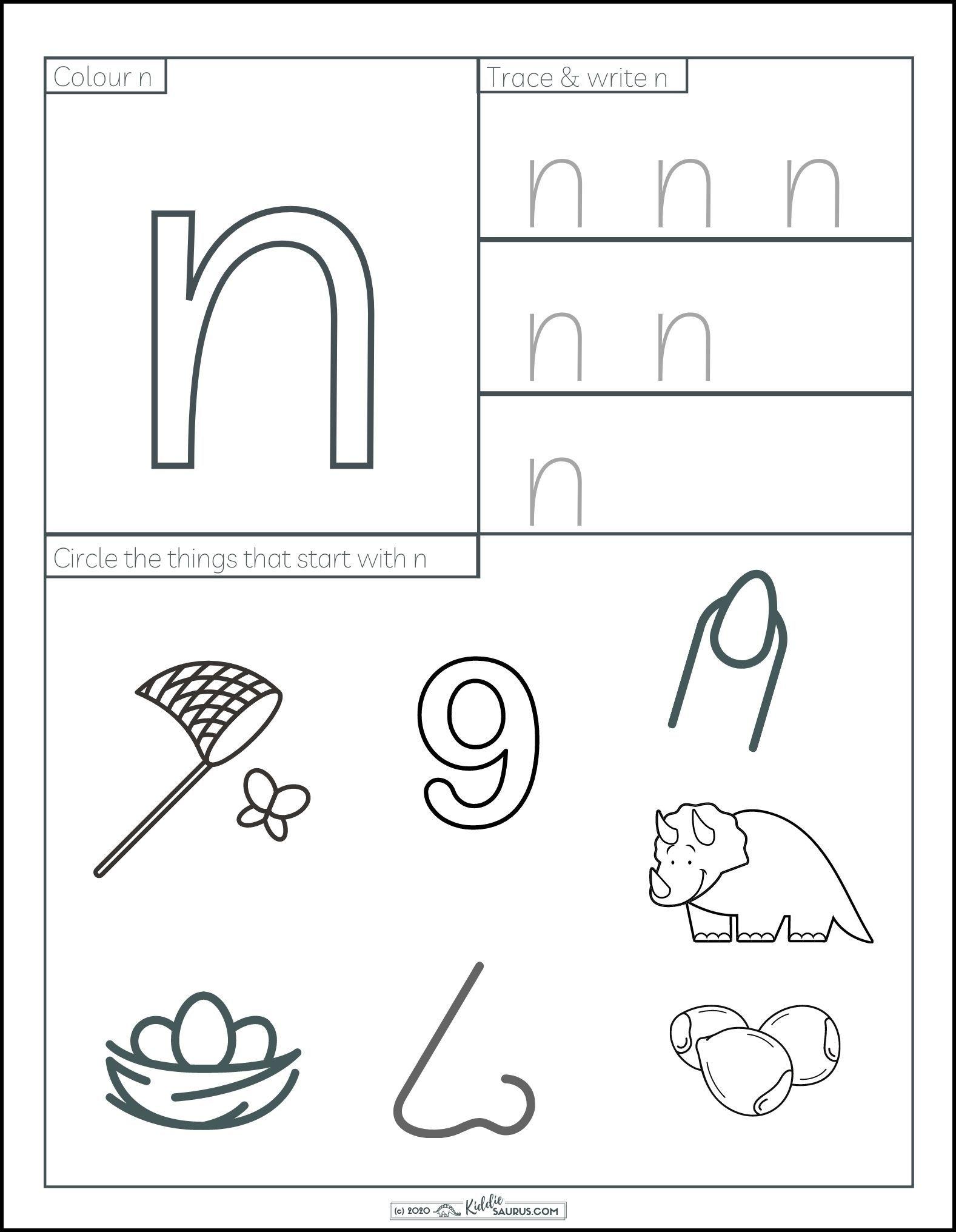 Free Printable Letter N Worksheets For Kids In