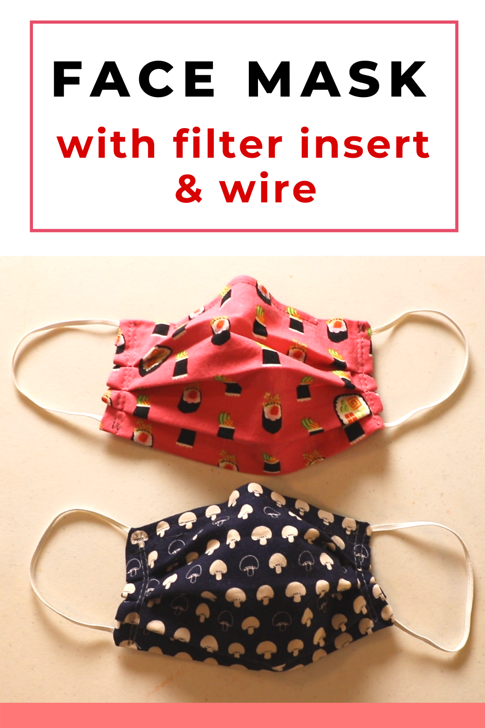 Photo of Simple face mask sewing with wire and filter insert opening