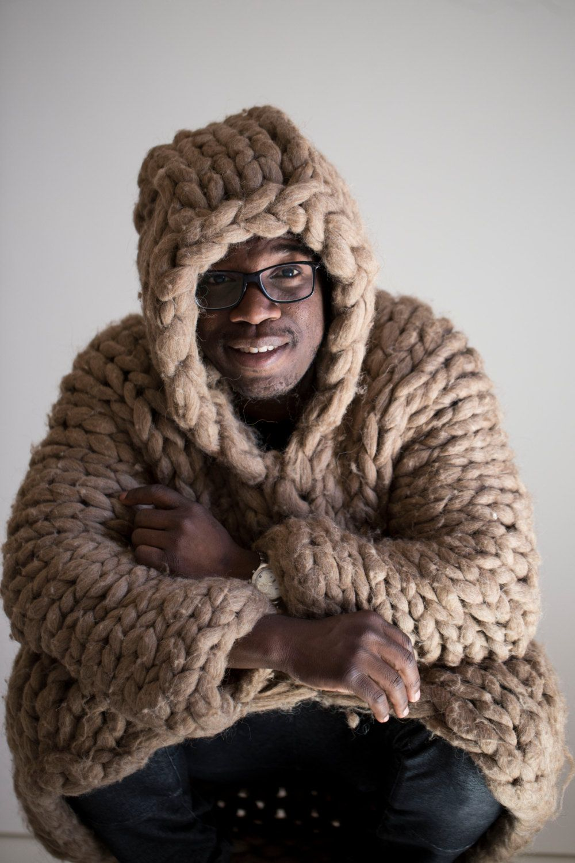 Chunky knit sweater - for men. Mens oversized hoody. Bulky yarn ...