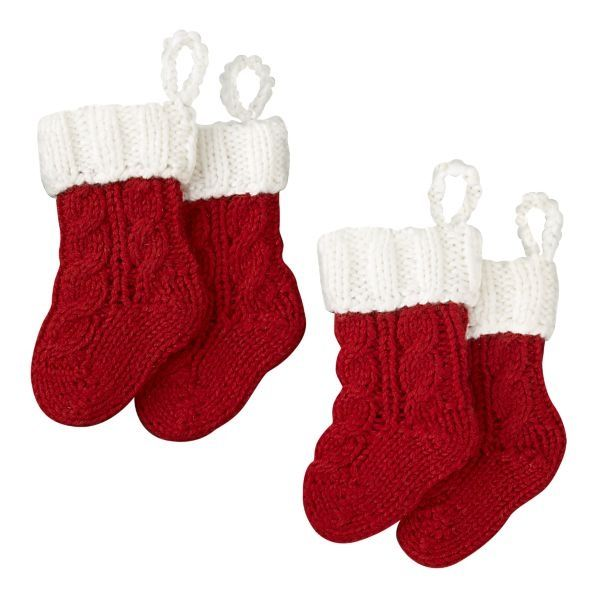 Crate and Barrel mini stockings for flatware - Christmas ...