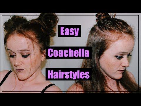 Easy Coachella Hairstyles - YouTube