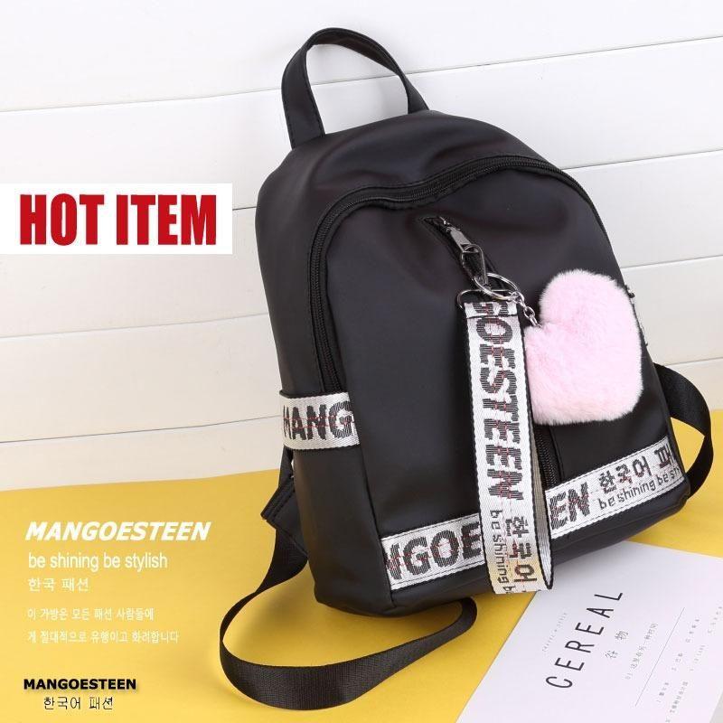33e546ce0b Belanja Mangoesteen Tas Ransel Wanita - Tas Backpack DARLING Gratis Pompom  Korea Indonesia Murah - Belanja